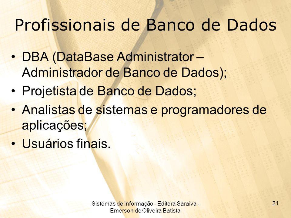 Profissionais de Banco de Dados