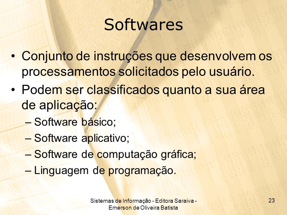 Sistemas de Informação - Editora Saraiva - Emerson de Oliveira Batista