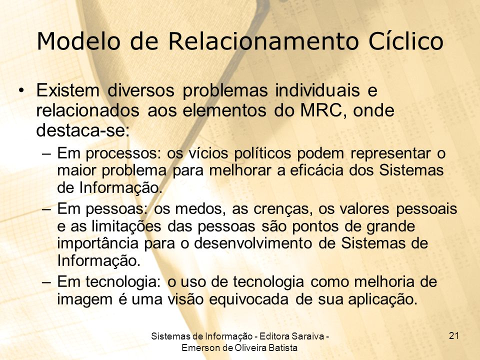 Modelo de Relacionamento Cíclico
