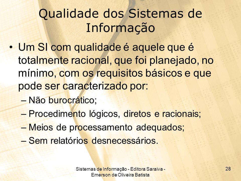 Qualidade dos Sistemas de Informação