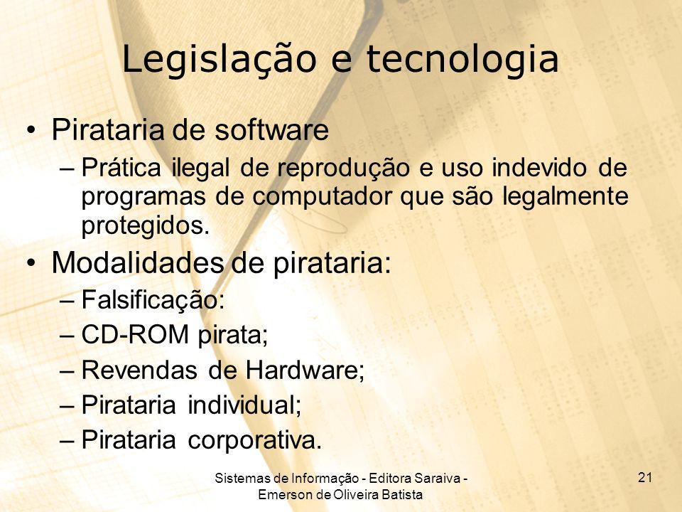 Legislação e tecnologia