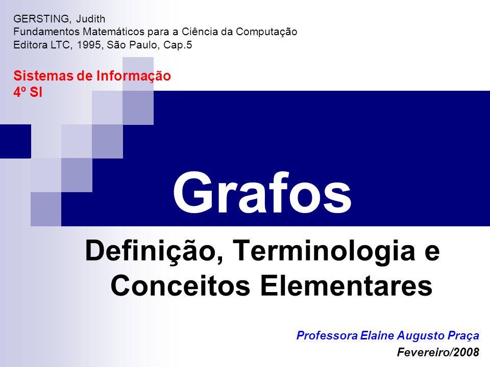 Grafos Definição, Terminologia e Conceitos Elementares