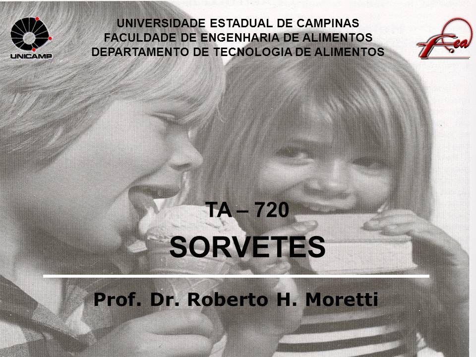 SORVETES TA – 720 Prof. Dr. Roberto H. Moretti