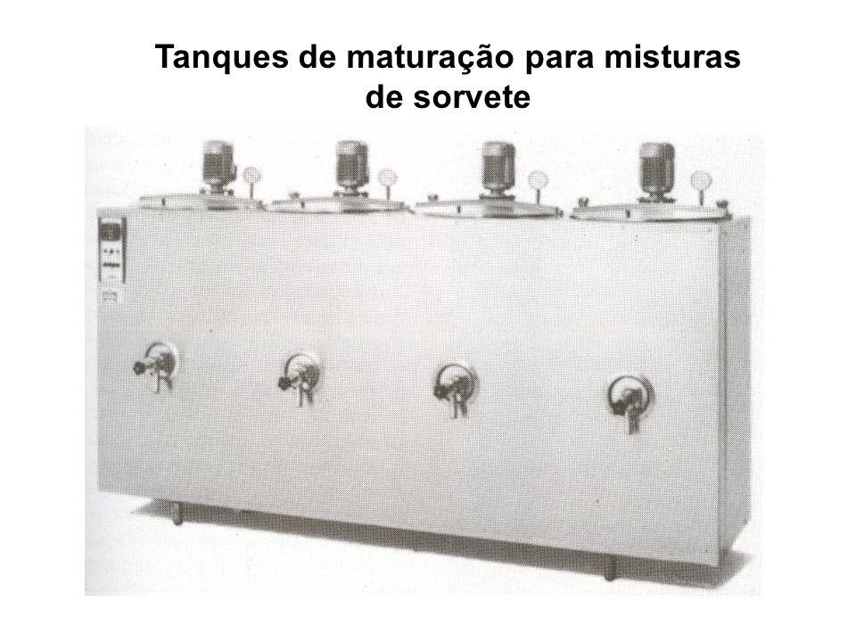 Tanques de maturação para misturas de sorvete