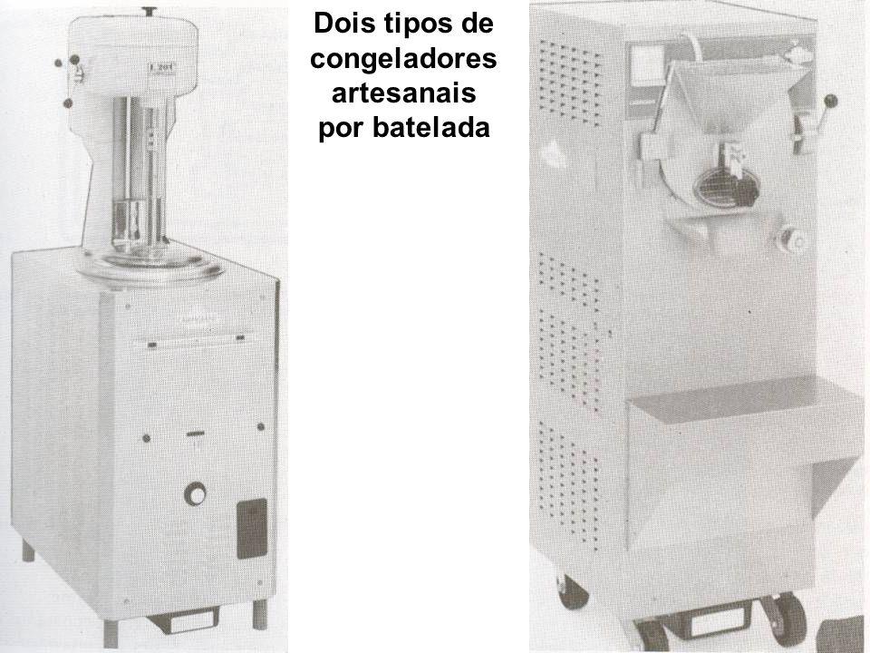Dois tipos de congeladores artesanais por batelada