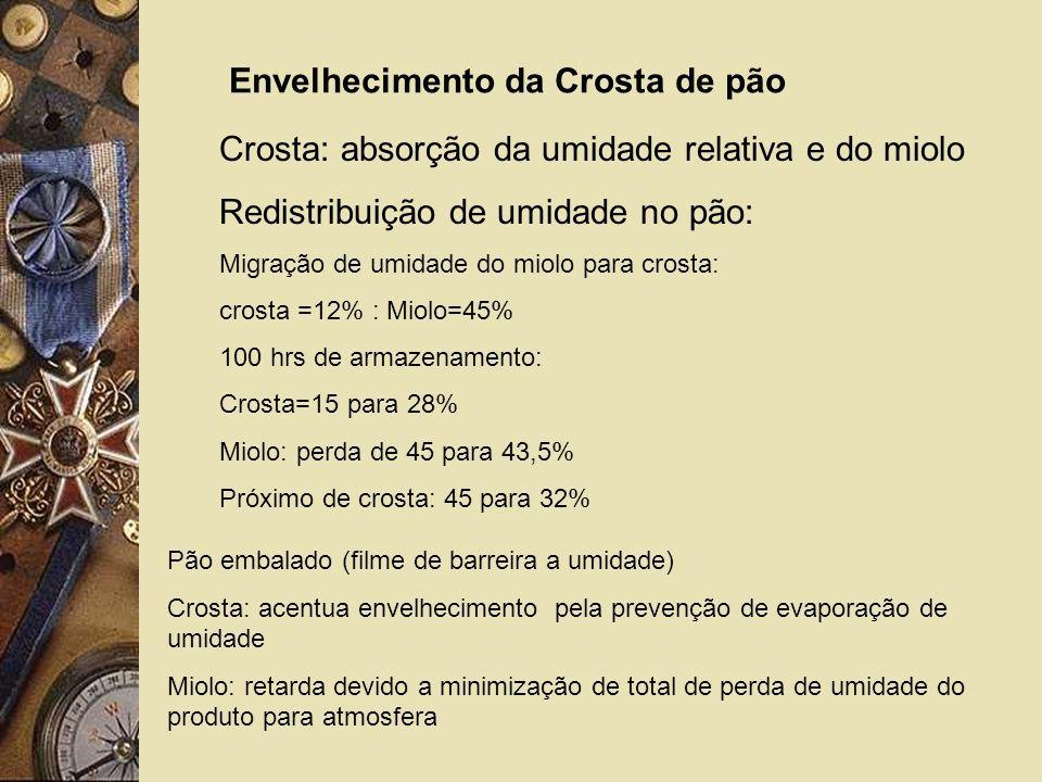 Envelhecimento da Crosta de pão