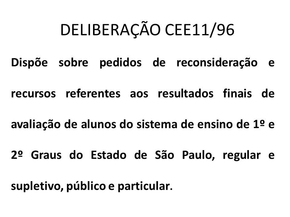 DELIBERAÇÃO CEE11/96