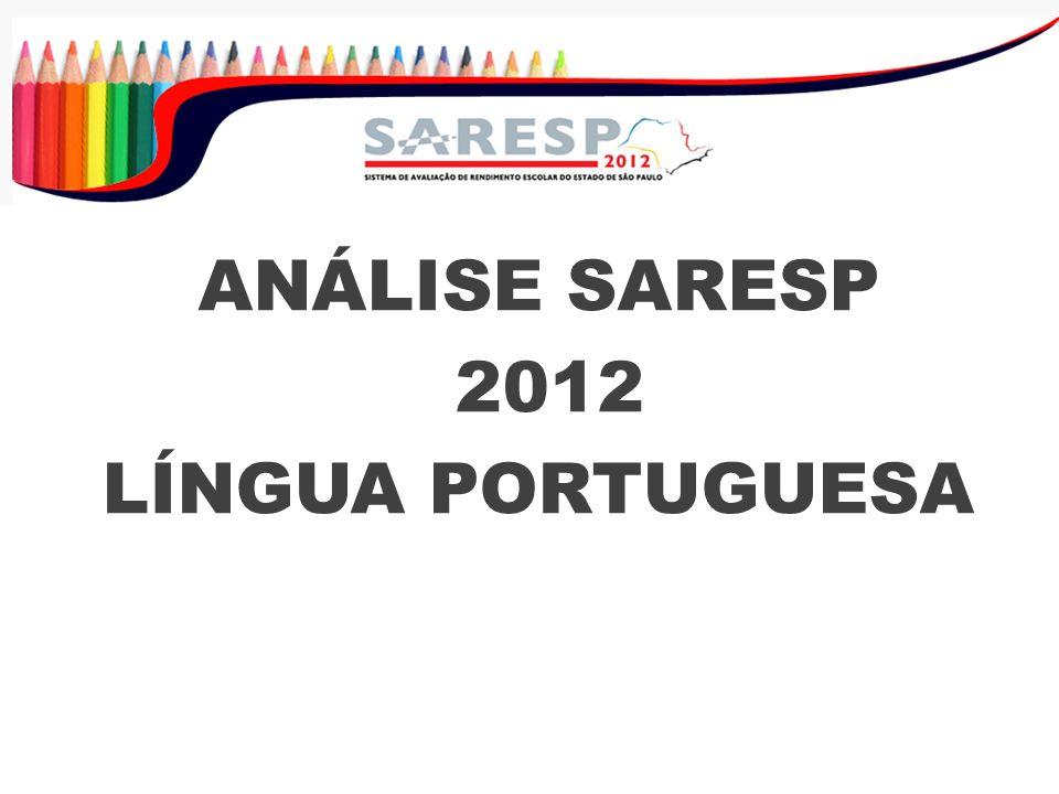 ANÁLISE SARESP 2012 LÍNGUA PORTUGUESA