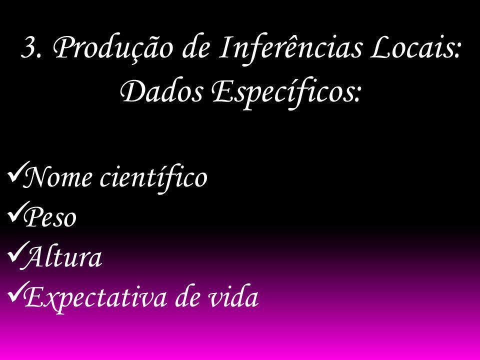 3. Produção de Inferências Locais: