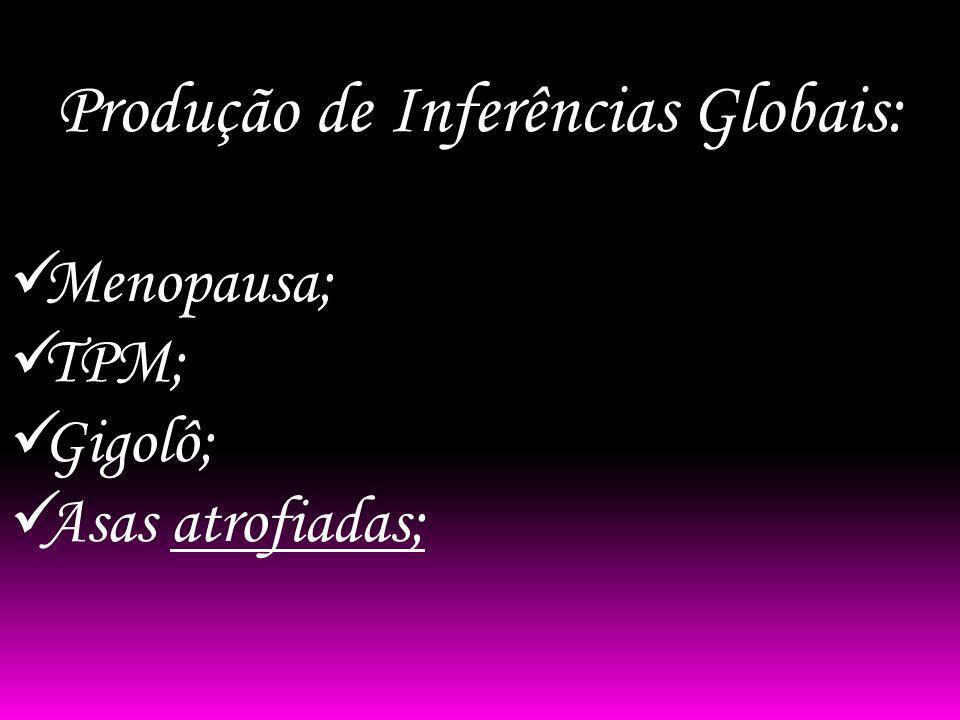 Produção de Inferências Globais: