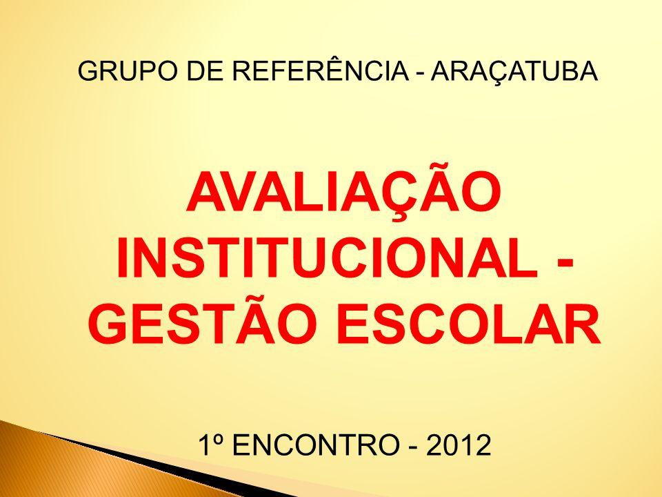 AVALIAÇÃO INSTITUCIONAL - GESTÃO ESCOLAR