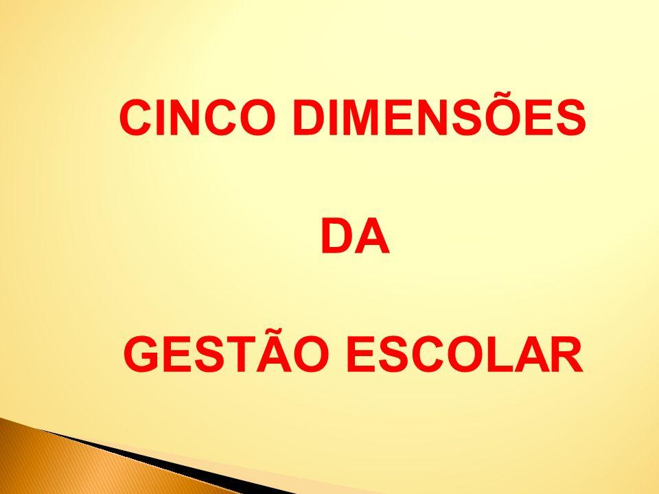 CINCO DIMENSÕES DA GESTÃO ESCOLAR