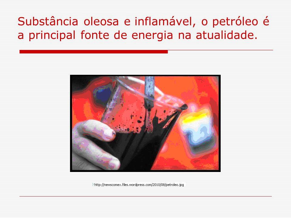 Substância oleosa e inflamável, o petróleo é a principal fonte de energia na atualidade.