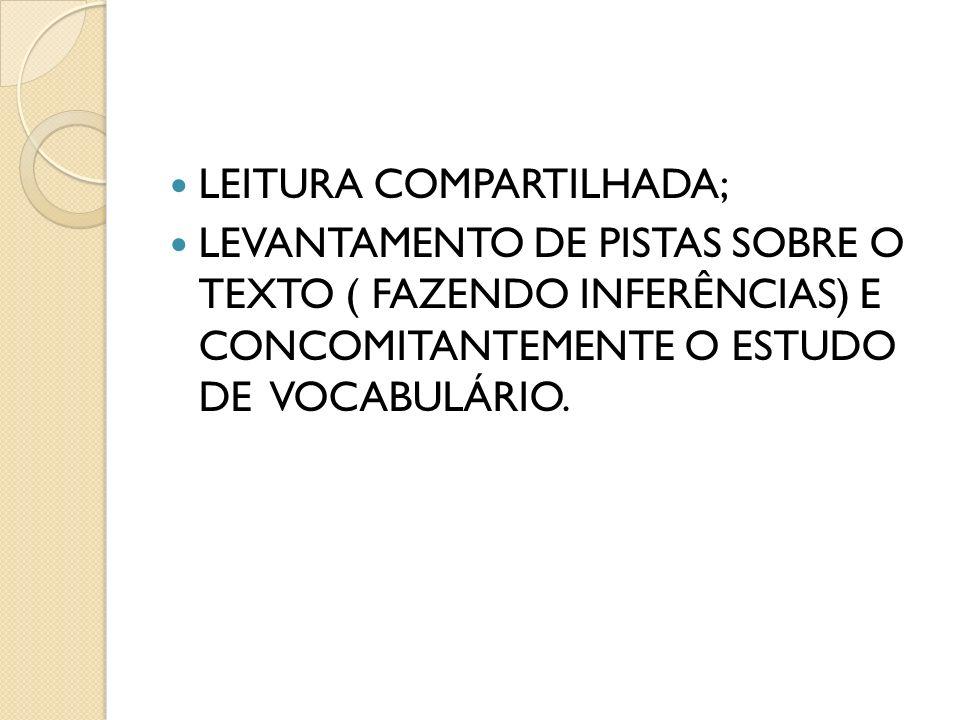 LEITURA COMPARTILHADA;