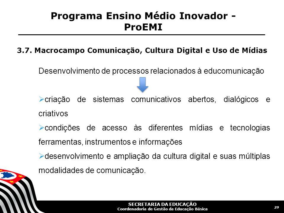 Programa Ensino Médio Inovador - ProEMI