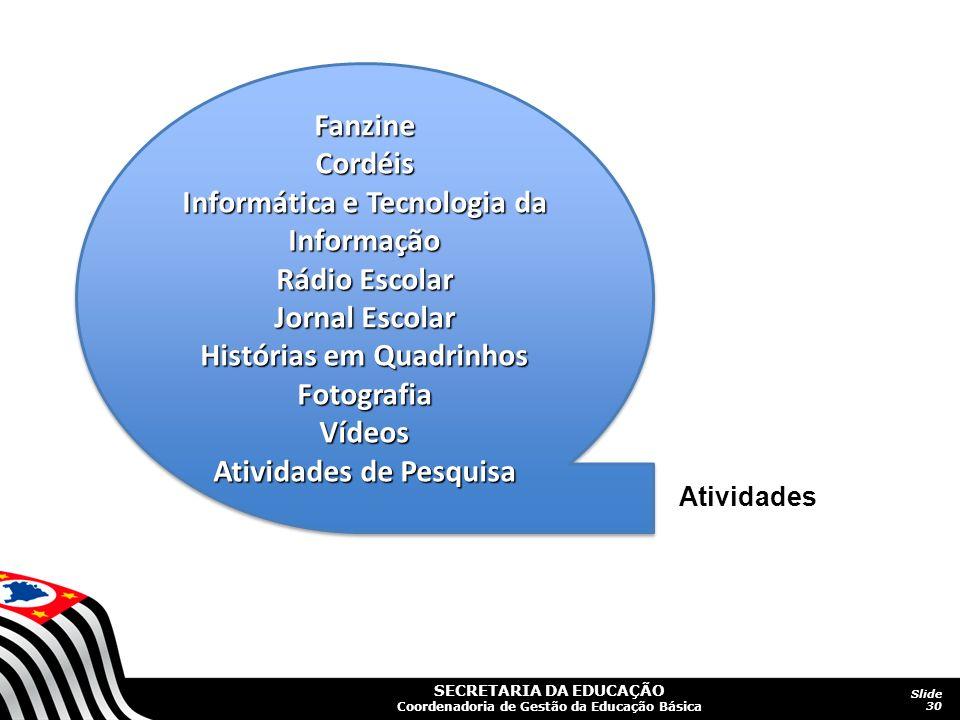 Informática e Tecnologia da Informação Rádio Escolar Jornal Escolar