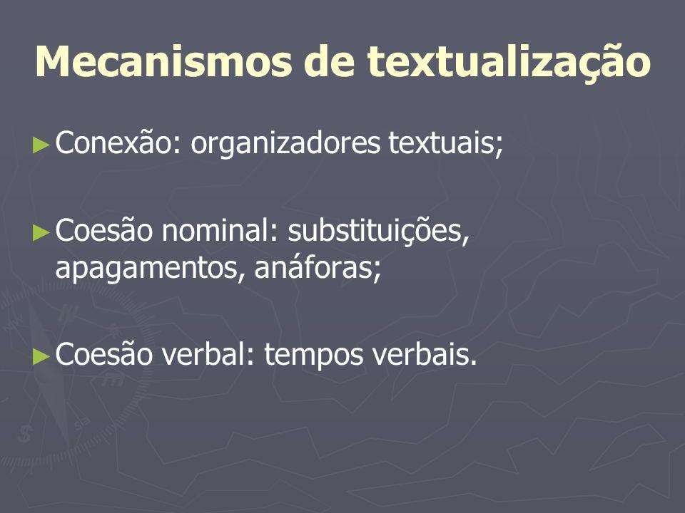 Mecanismos de textualização