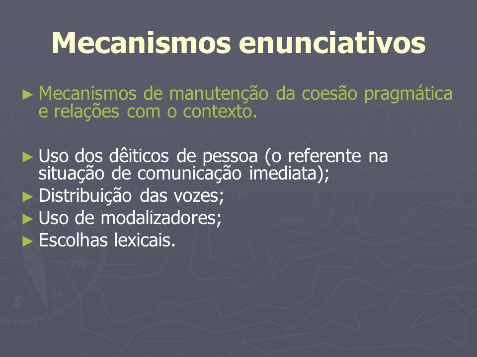 Mecanismos enunciativos
