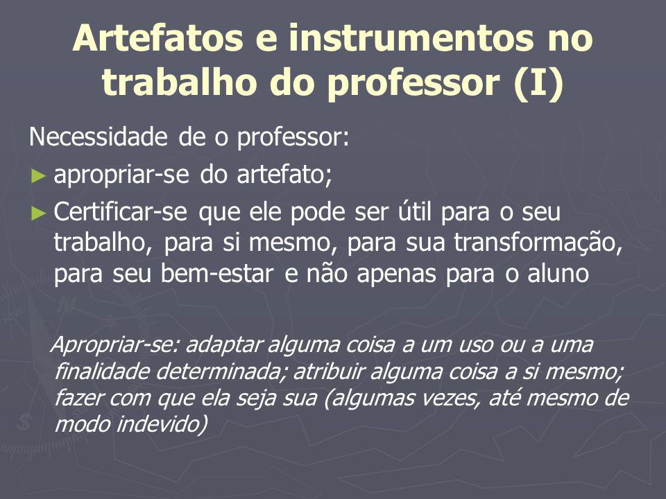 Artefatos e instrumentos no trabalho do professor (I)