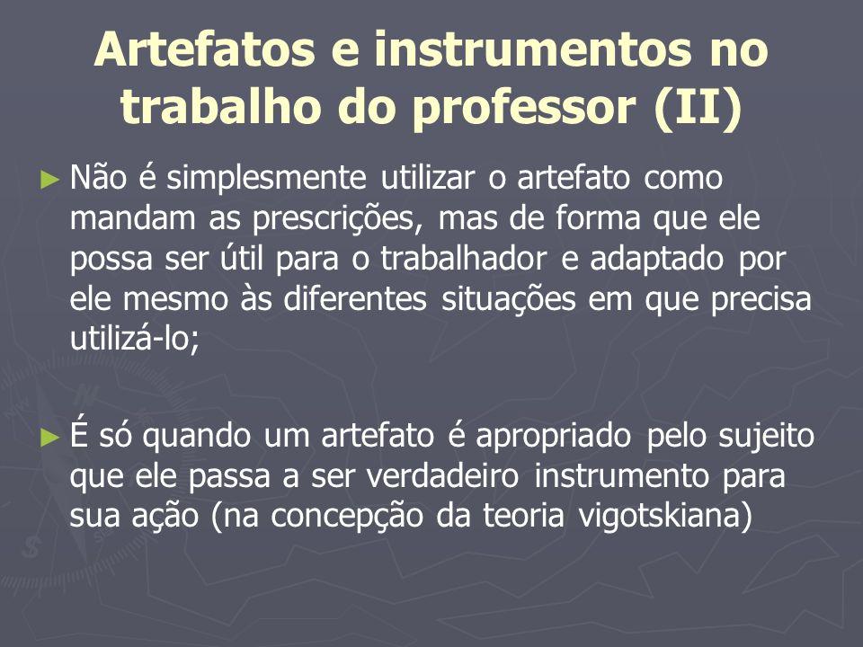 Artefatos e instrumentos no trabalho do professor (II)