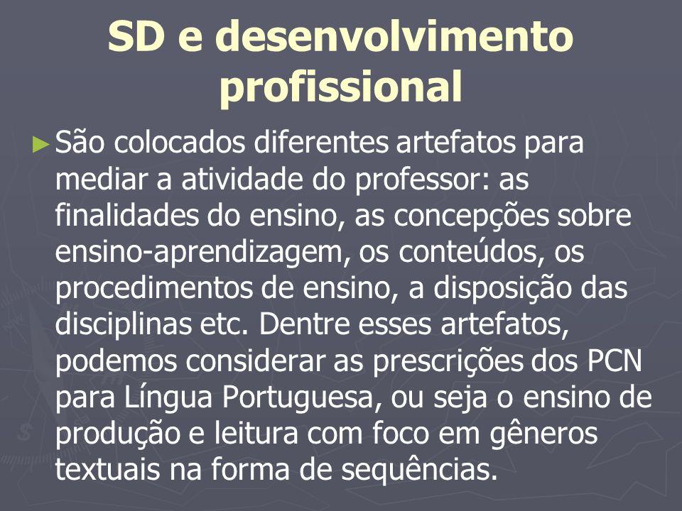 SD e desenvolvimento profissional