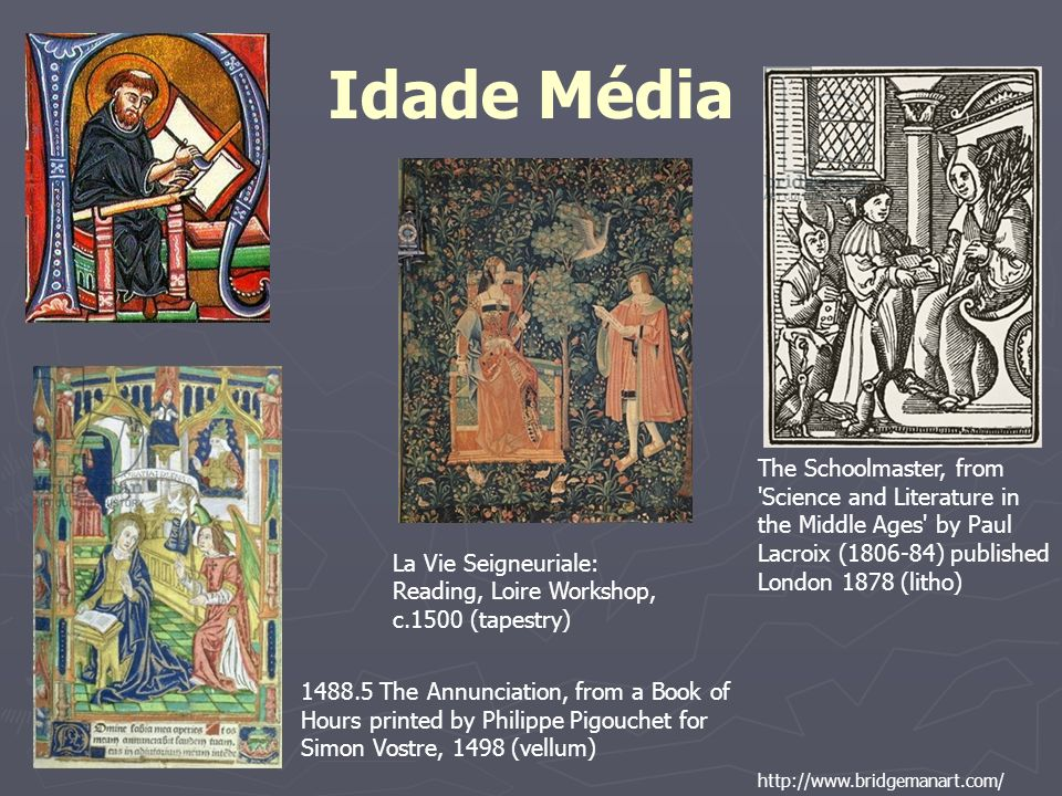 Idade MédiaThe Schoolmaster, from Science and Literature in the Middle Ages by Paul Lacroix (1806-84) published London 1878 (litho)