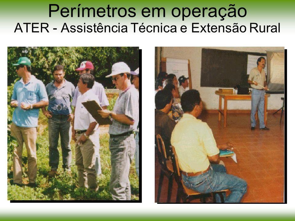 Perímetros em operação ATER - Assistência Técnica e Extensão Rural