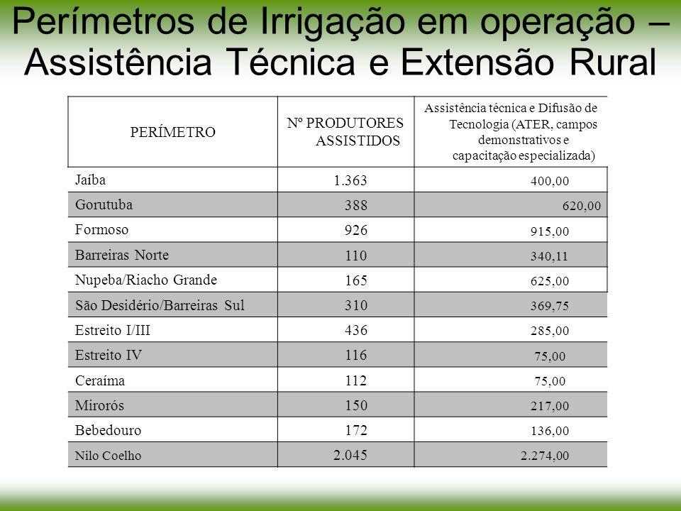 Nº PRODUTORES ASSISTIDOS