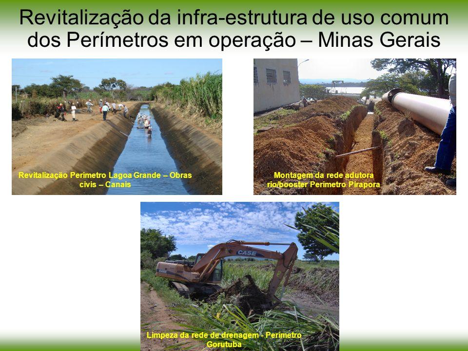 Montagem da rede adutora rio/booster Perímetro Pirapora