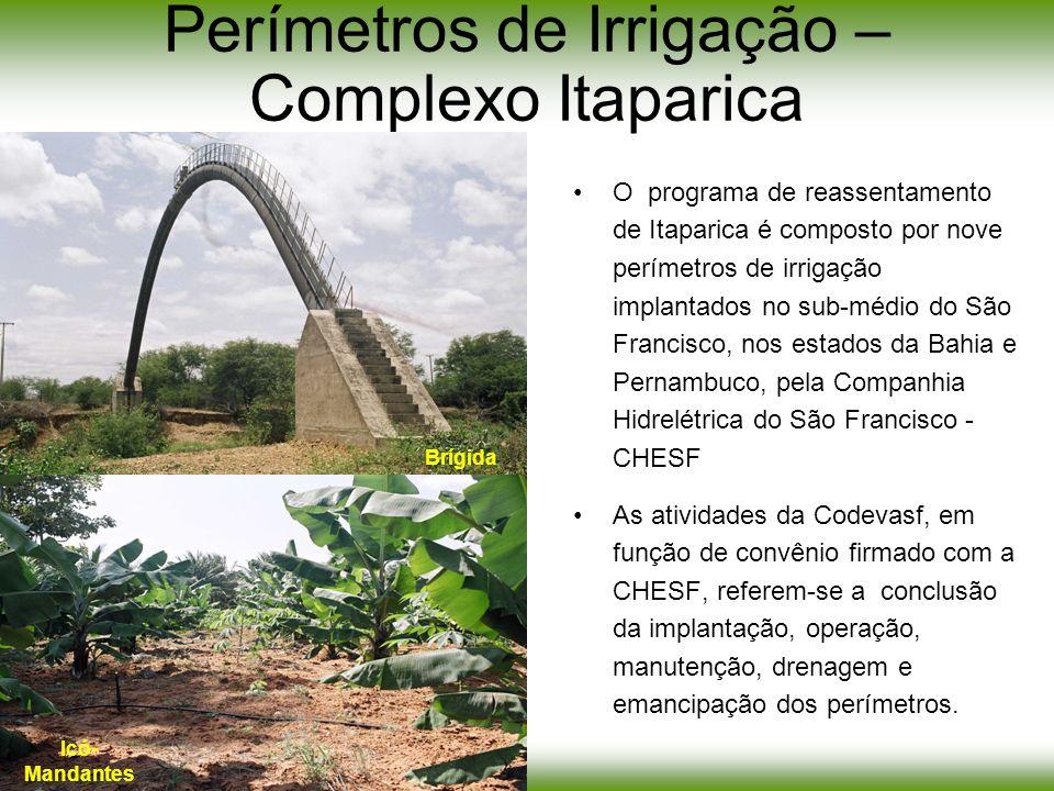 Perímetros de Irrigação – Complexo Itaparica