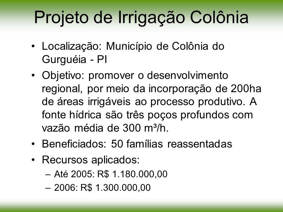 Projeto de Irrigação Colônia
