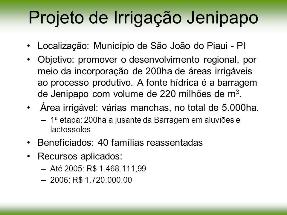 Projeto de Irrigação Jenipapo