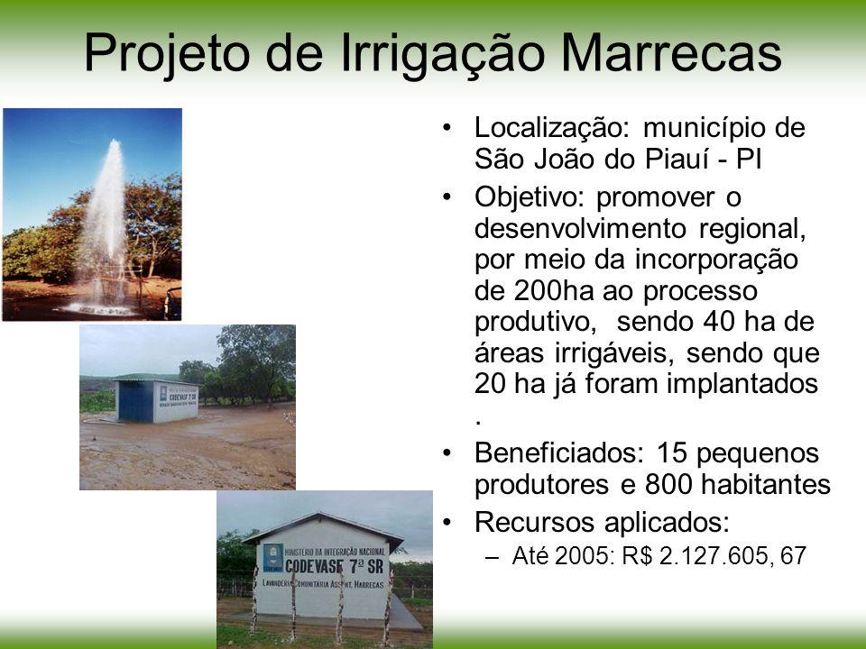 Projeto de Irrigação Marrecas