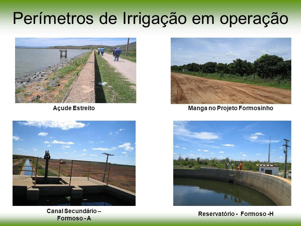 Perímetros de Irrigação em operação