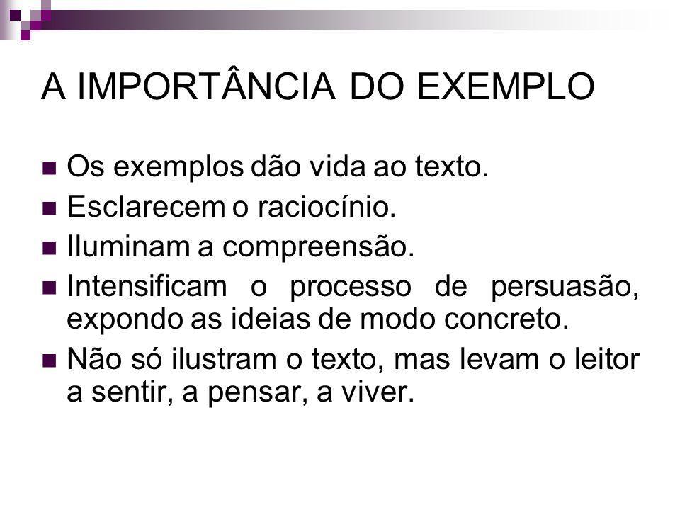 A IMPORTÂNCIA DO EXEMPLO