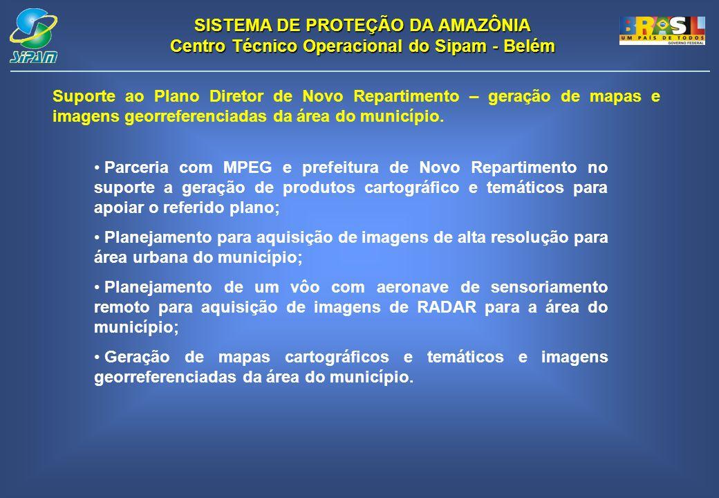 Suporte ao Plano Diretor de Novo Repartimento – geração de mapas e imagens georreferenciadas da área do município.