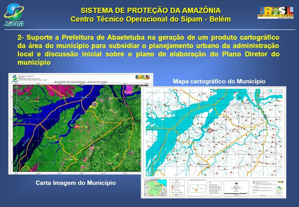 Mapa cartográfico do Município Carta Imagem do Município