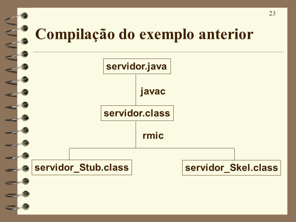 Compilação do exemplo anterior