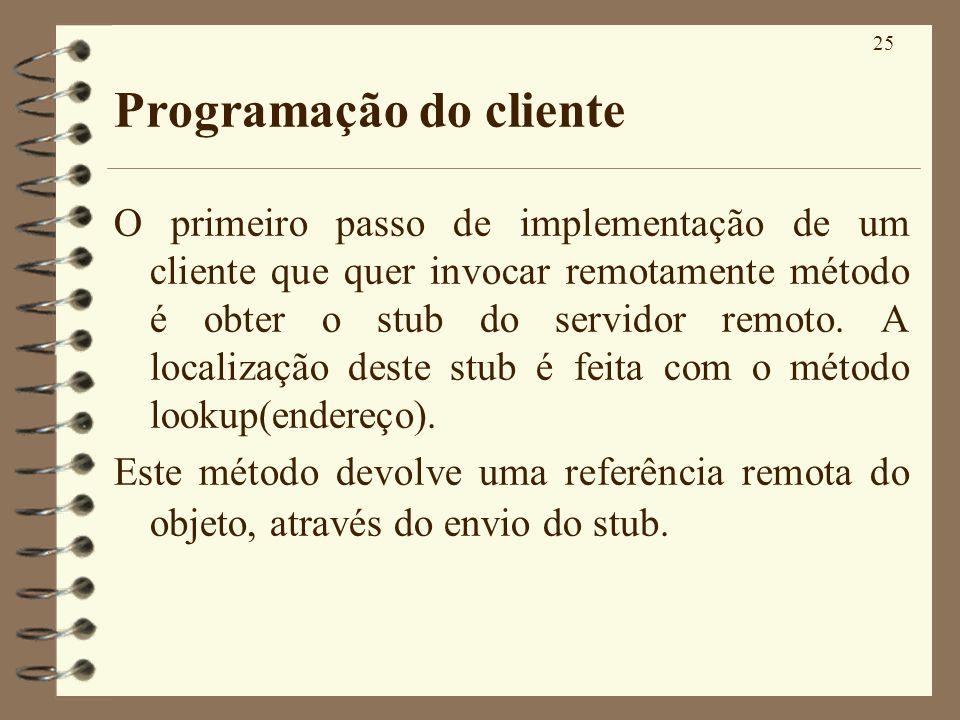 Programação do cliente