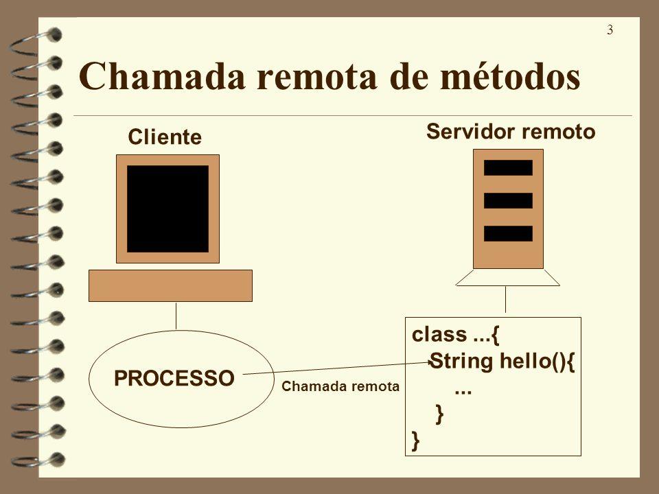 Chamada remota de métodos