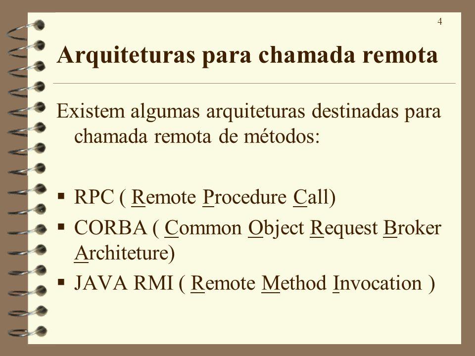Arquiteturas para chamada remota