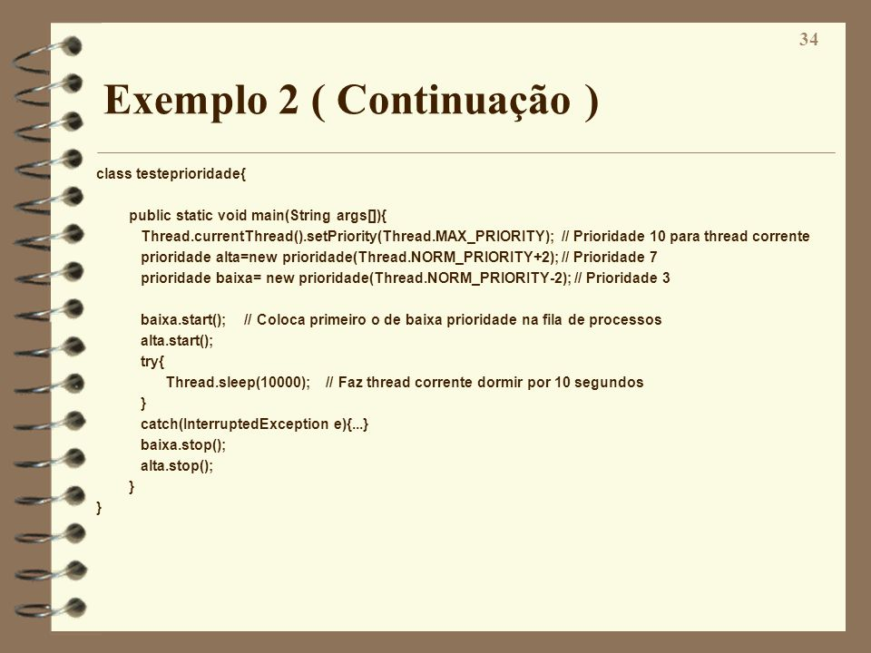 Exemplo 2 ( Continuação )