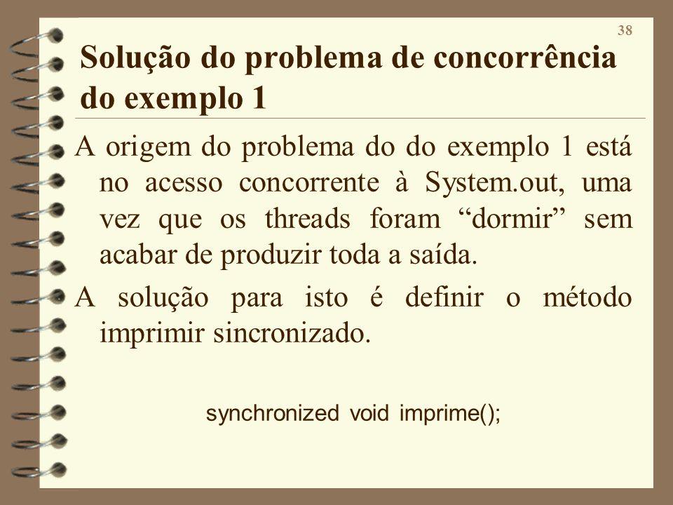 Solução do problema de concorrência do exemplo 1