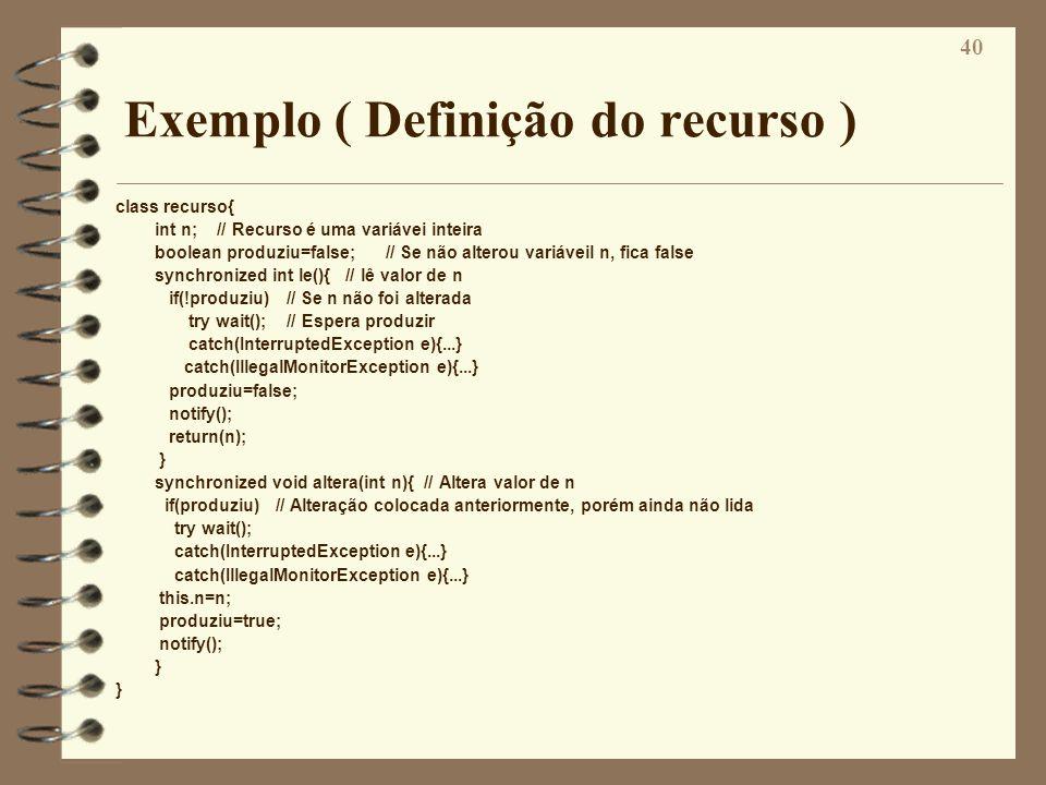 Exemplo ( Definição do recurso )
