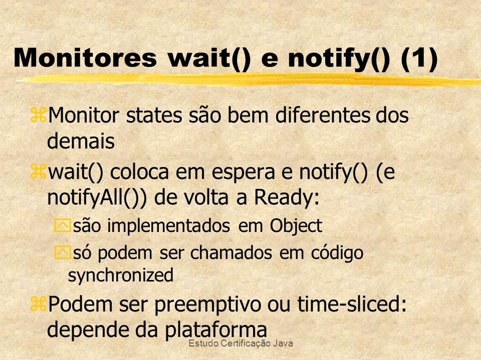 Monitores wait() e notify() (1)