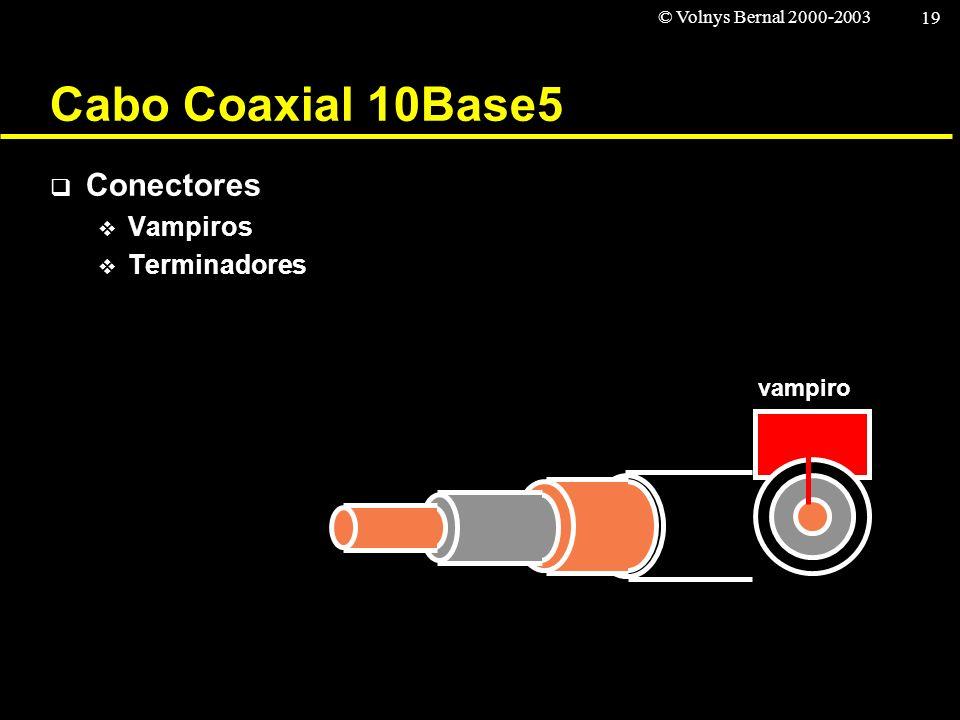 Cabo Coaxial 10Base5 Conectores Vampiros Terminadores vampiro