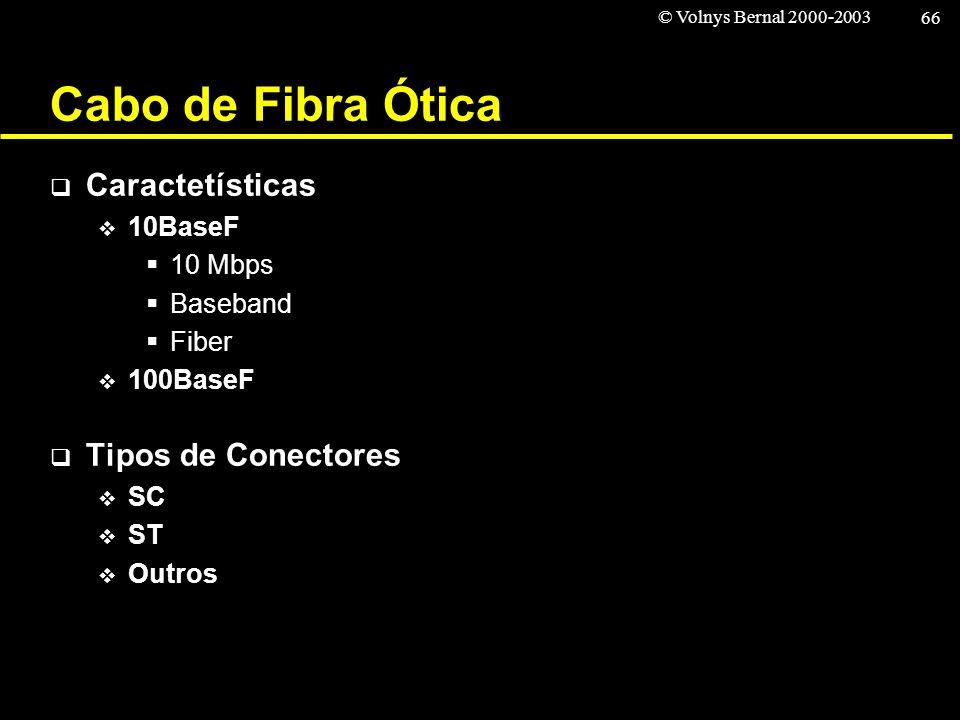 Cabo de Fibra Ótica Caractetísticas Tipos de Conectores 10BaseF