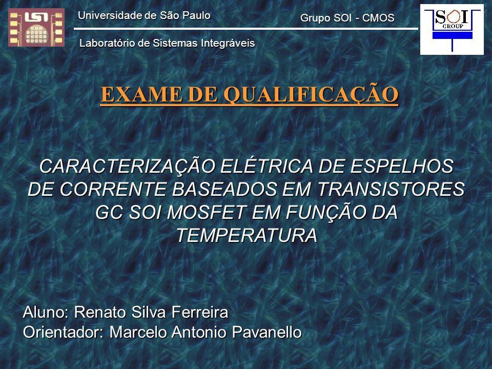 EXAME DE QUALIFICAÇÃO CARACTERIZAÇÃO ELÉTRICA DE ESPELHOS