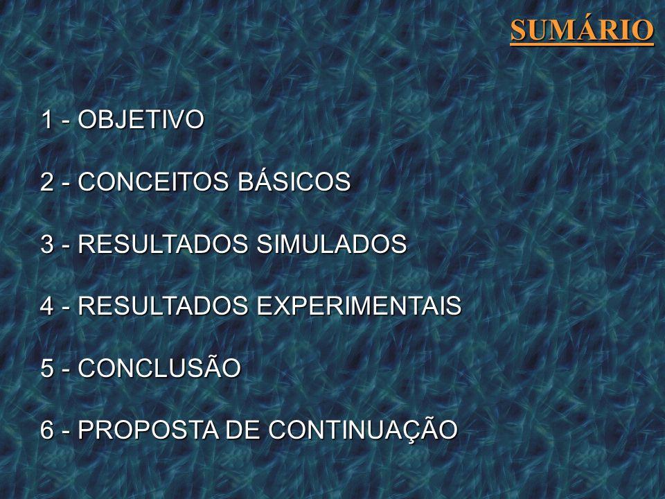 SUMÁRIO 1 - OBJETIVO 2 - CONCEITOS BÁSICOS 3 - RESULTADOS SIMULADOS