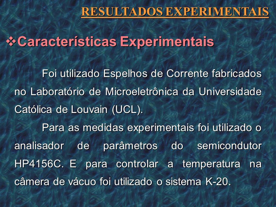 Características Experimentais
